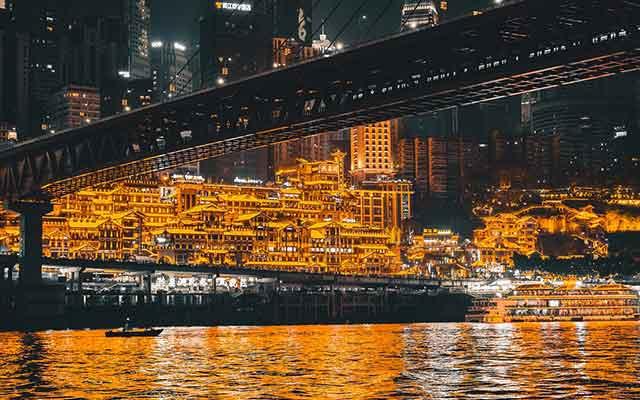 重庆夜景去哪看:长江索道夜景
