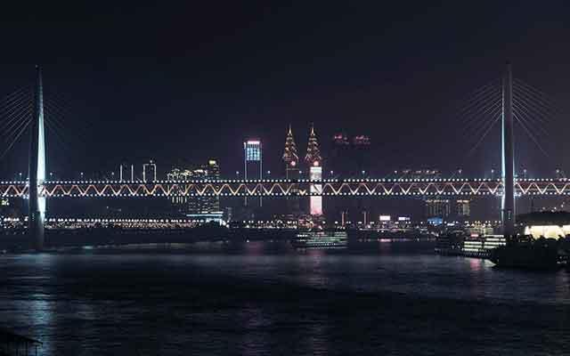 重庆市内旅游景点:南滨路夜景